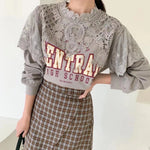 Embroidered Trimmed Shoulder Top (3 colours) (pre order)