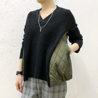 Side Quilted Knit Top (2 colours) (pre order)
