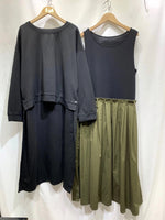 High Low End Top with Dress Set (2 colours) (pre order)