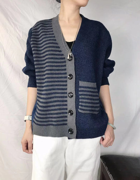 Back Denim Knit Cardigan (pre order)