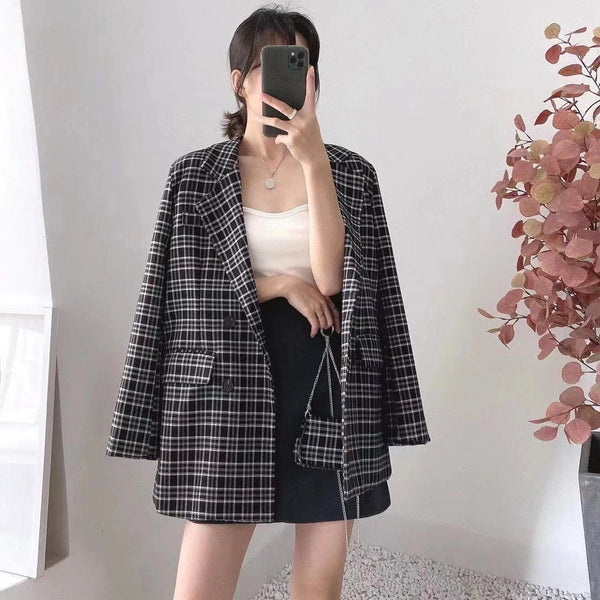 Checkered Suit Jacket (2 colours) (pre order)