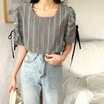 Ruched Sleeves Top (2 colours) (pre order)