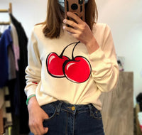 Cherries Knit Top (2 colours) (pre order)
