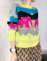 Creature Pattern Cardigan (2 colours) (pre order)