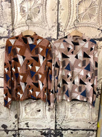 Geometric Pattern Top (2 colours) (pre order)