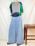 Raw Edge Denim Culottes (pre order)