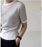 Crochet Knit Top (2 colours) (pre order)