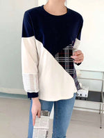 Side Checkered Puff Sleeves Top (2 colours) (pre order)