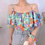 Open Shoulder Floral Top (3 colours) (pre order)