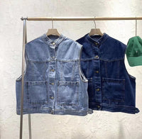 Denim Vest Outer (2 colours) (pre order)