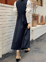 Puffy Sleeves Top with V-Neck Dress Set (pre order)