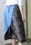 Mixed Camouflage Denim Skirt (pre order)