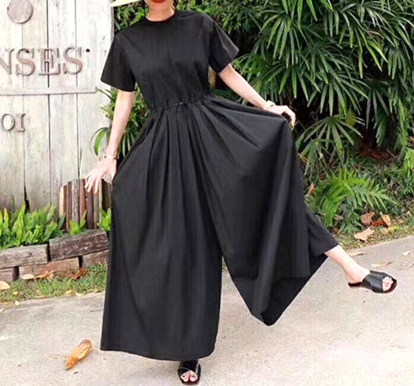 Waist Ruched Jumpsuit (2 colours) (pre order)