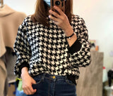 Houndstooth Pattern Top (2 colours) (pre order)