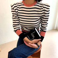 Pinstriped Knit Top (3 colours) (pre order)