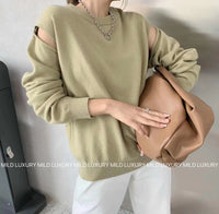 Faux Two Knit Top (white only)