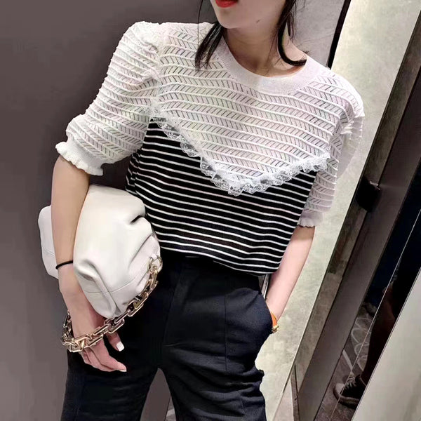Faux Two Knit Top (2 colours) (pre order)