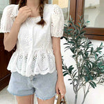 Floral Embroidered Top (2 colours) (pre order)