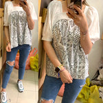 Faux Two Ethnic Style Top (2 colours) (pre order)