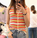 Pinstriped Buttoned Vest (2 colours) (pre order)