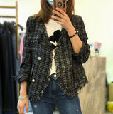 Fringe Edge Tweed Outer (2 colours) (pre order)