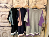 Multi Colours Sleeves Top (3 colours) (pre order)