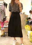 Knit Top Chiffon Dress (3 colours) (pre order)