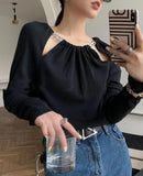 Chained Collar Top (2 colours) (pre order)