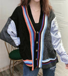 Striped Fabric Knit Outer (pre order)