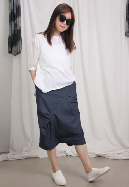 Demin Low-Cut Culottes
