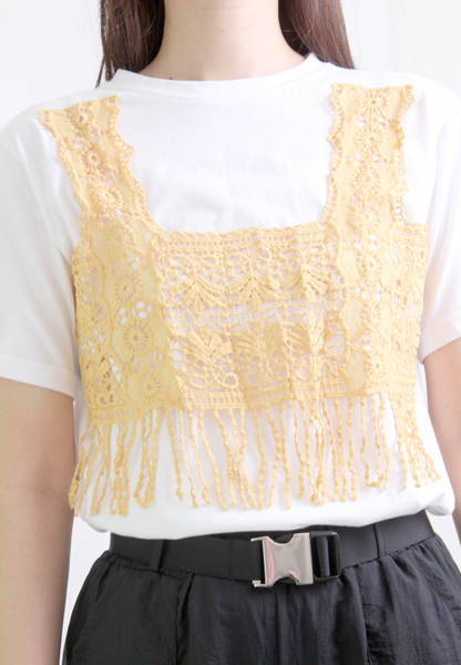 2-in-1 Embroidered Vest Tee