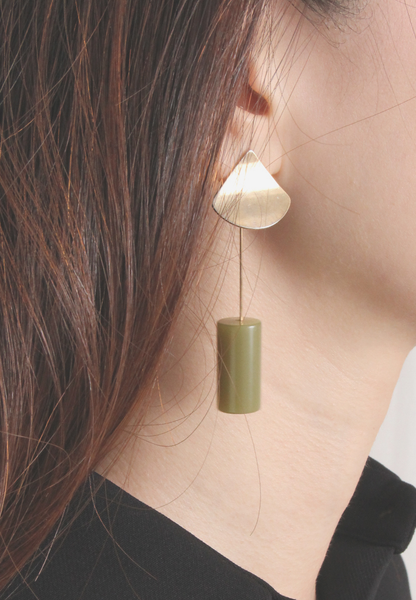 Asymmetric Cylinder Earrings