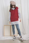2-In-1 Knit Vest Shirt