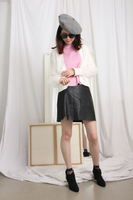 Mesh Coated Wool Cardigan (2 colours)