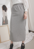 Solid Colour Knit Skirt (2 colours)