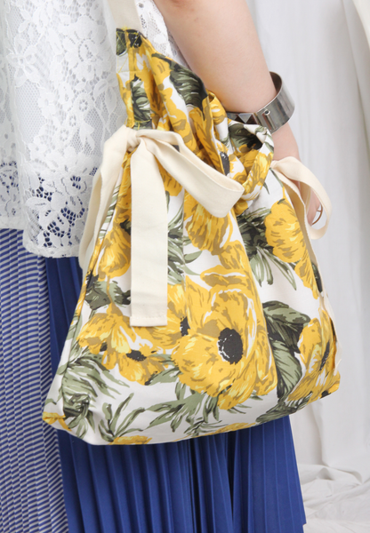 Summer Floral Canvas Fabric Bag