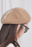 Mixed Checkers Beret