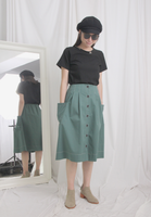 Button Up Skirt (2 colours)