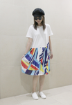 2-in-1 Tee with Pleated Dress