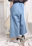 Cropped Denim Culottes