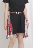 Mixed Fabric Dress