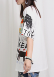 Printed Pattern White Tee