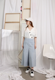 Front Pockets Cropped Culottes