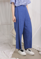 Pleated Detail Cropped Trousers