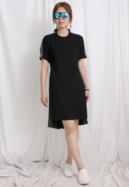 Zacro Asymmetric Ruffle Chiffon Shirt Dress