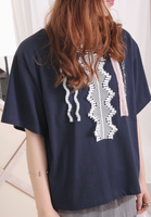 Ethnic Ribbon Trims Top