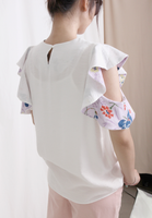 Floral Ruffle Shoulder Top (2 colours)