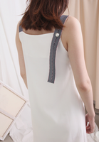(One Piece) Sling Dress with Organza Bottom