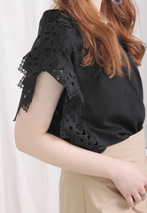Embroidered Shoulder Top