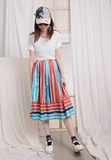 Pinstriped Pleated Skirt
